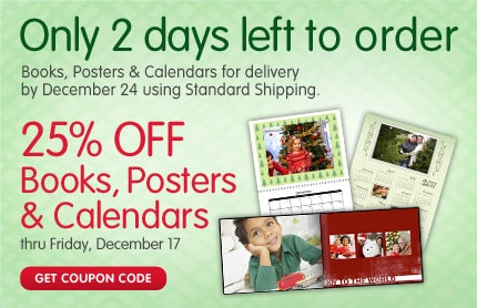 Only 2 days left to order Books, Posters & Calendars for delivery by December 24 using Standard Shipping. 25% OFF Posters. Order Online, pick up in store same day. GET COUPON CODE