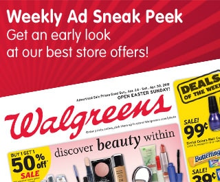 Weekly Ad Sneak Peek Get an early look at our best store offers!