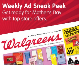 Weekly Ad Sneak Peek Get ready for Mother's Day with top store offers.