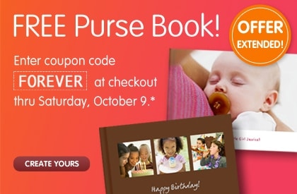 FREE Purse Book! OFFER EXTENDED! Enter coupon code FOREVER at checkout thru Saturday, October 9.* CREATE YOURS