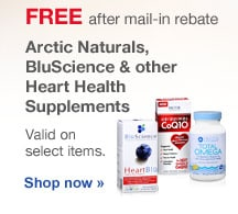 FREE after mail-in-rebate. Arctic Naturals, BluScience & other Heart Health Supplements. Valid on select items. Shop now