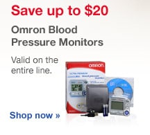 Save up to $20. Omron Blood Pressure Monitors. Valid onthe entire line. Shop now